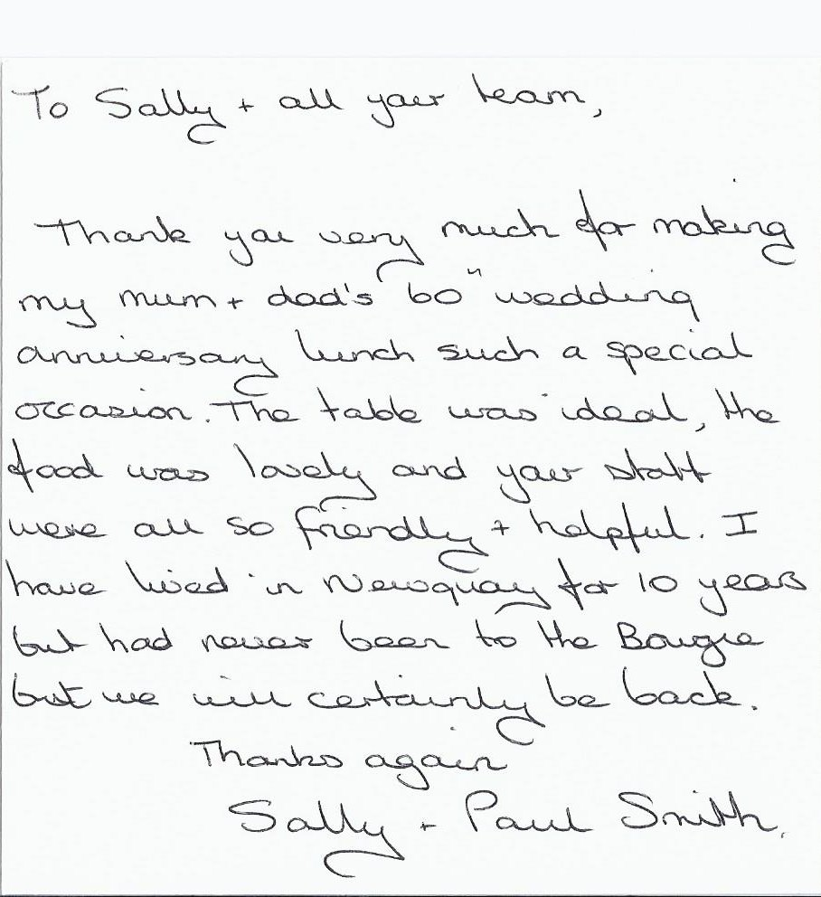 thank you letter sally smith