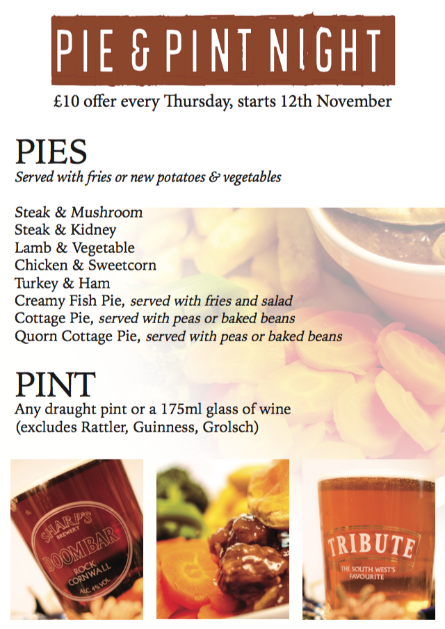 Pie and Pint for £10